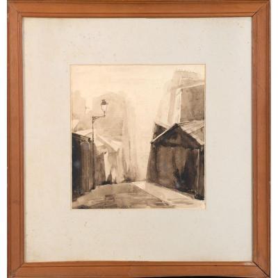 Pierre Auguste Bordeaux 1935 - Vue Parisienne De Montmartre