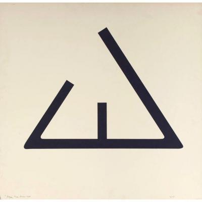 Jean Legros - «signe» 1973 - Abstraction Géométrique