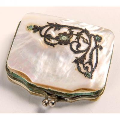 Napoleon III Mother Of Pearl And Silver Wallet – France 19th Century