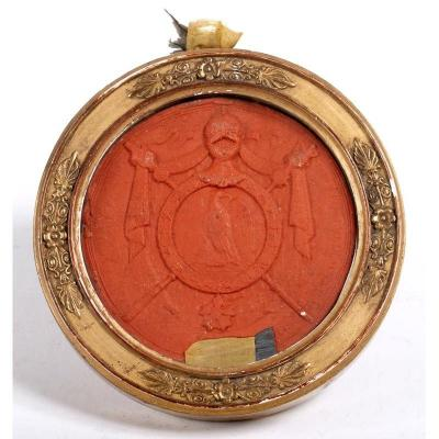 Great Seal Of The First Empire Decorated With Emperor Napoleon Bonaparte And The Imperial Eagle