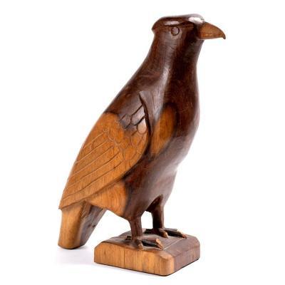 Rapace Signé Francis Mar - Art Animalier Sculpture d'Oiseau