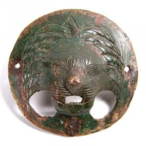 Art Romain Du 2ème - 3ème Siècle - Applique En Bronze En Forme De Gueule De Lion