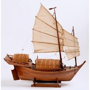 Chine 20ème Siècle - Navire Chinois Miniature - Maquette De Jonque Chinoise
