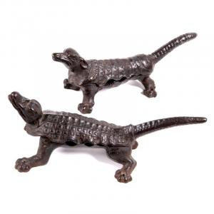 France 19th Century -  Cork Chewers Shaped As An Armadillo And An Alligator