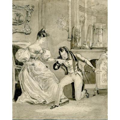 Achille Dévéria (1800 - 1857)