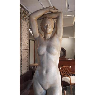 Grand Plâtre d'atelier Signé Alphonse Darville