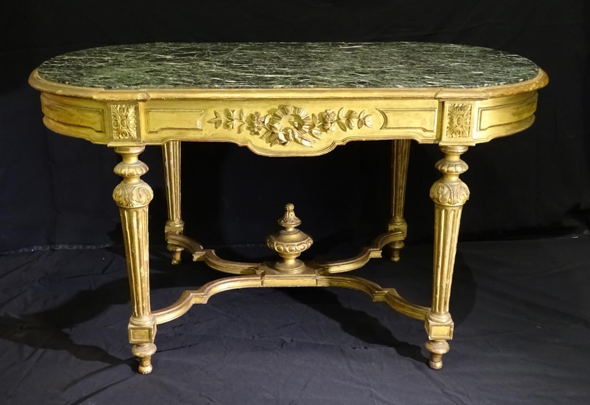 Table De Milieu En Bois Doré époque Napoléon III