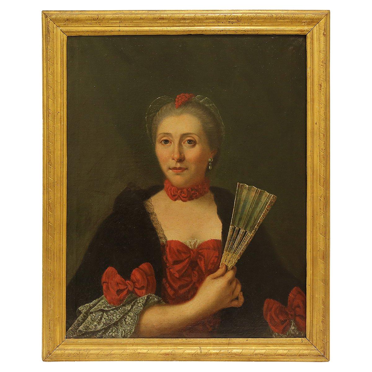 Portrait De Femme XVIIIème