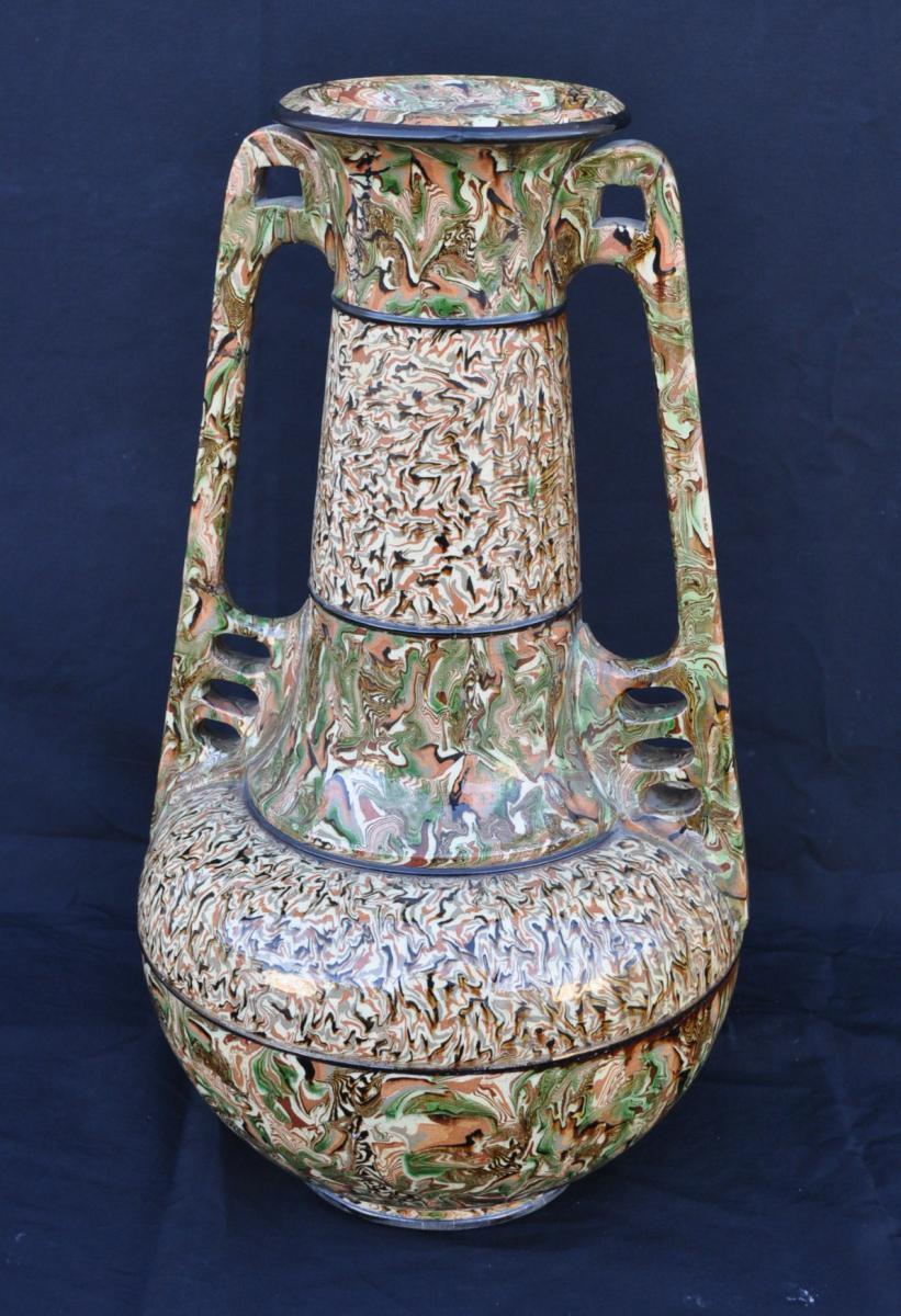 Grand Vase De Pichon Vers 1900