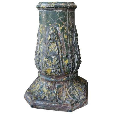 A 19th Century Cast Iron Lamppost Base