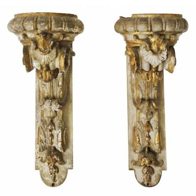 A Pair Of Wall Brackets From The 18th Century