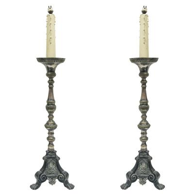 Pair Of 19th Candlesticks