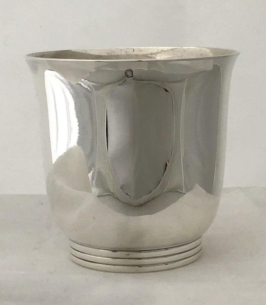 Beaker  In Art Deco Silver, Puiforcat, Paris Around 1925, Goblet