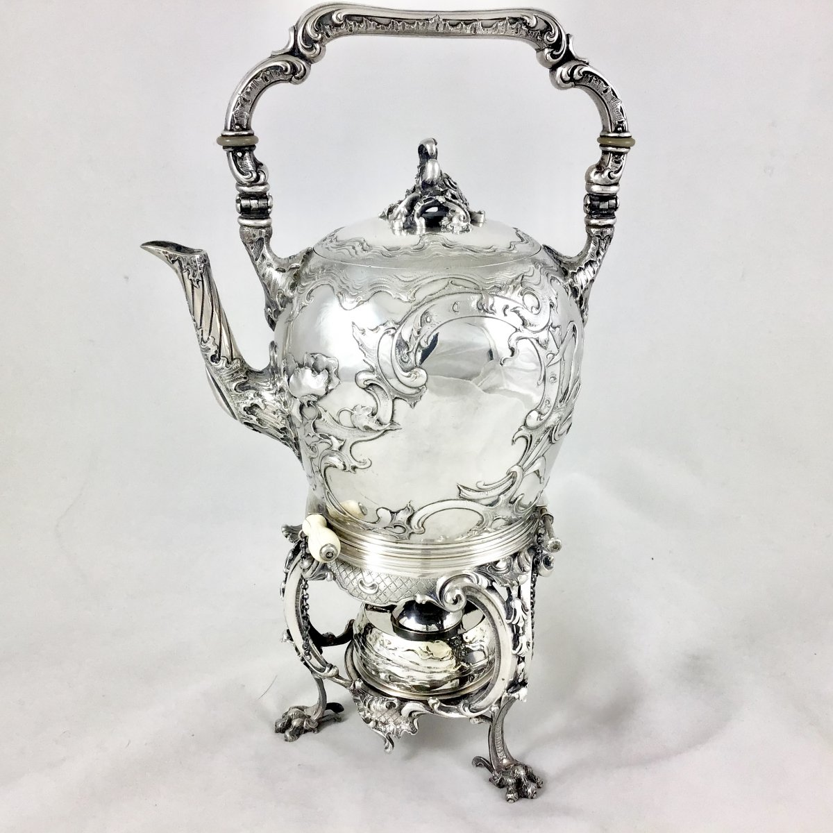 Tea Kettle, Sterling Silver, Wolfers, Brussels Circa 1880