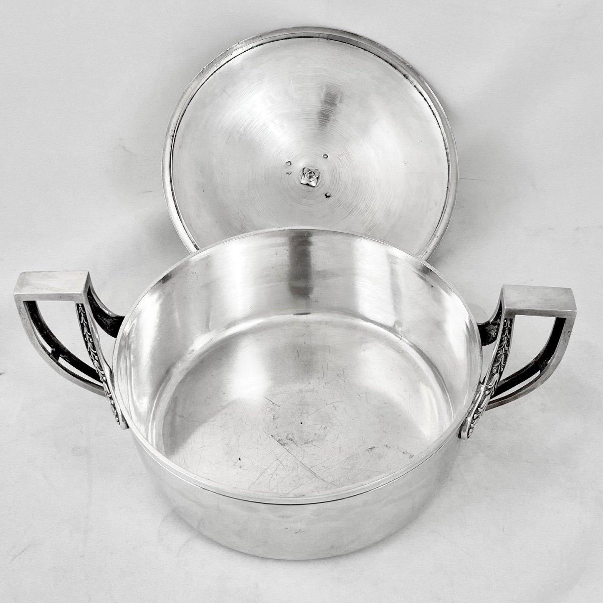 Sterling Silver Vegetable Dish, Empire Period, Paris 1809-1819, J.-b. Lefranc-photo-4