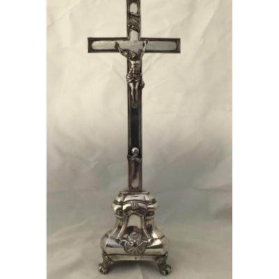 Sterling Silver Altar Cross, Belgium Around 1814-1831