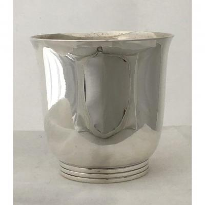 Beaker  In Art Deco Silver, Puiforcat, Paris Around 1925, Goblet