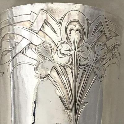 Timbale Art Nouveau En Argent, France Vers 1890-1910, Gobelet En Argent