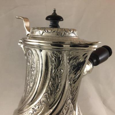 Silverplated Coffeepot By Christofle , Nineteenth Century