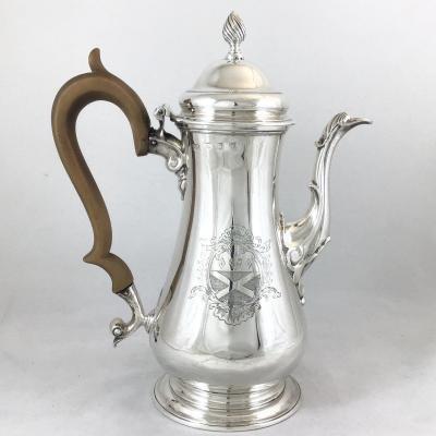 Silver George III Coffee Pot , London 1761, Benjamin Brewood