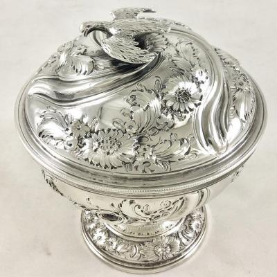 Silver Sugar Bowl, London 1756, Samuel Taylor, Covered Bowl