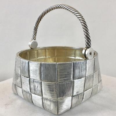 Sugar Basket, Russia 1899-1908, Silver, Trompe-l'oeil De Vannerie