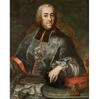 Portrait du Prince-évêque de Liège Jean Théodore de Bavière  , 1744-1763, huile sur toile