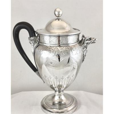Large Empire Silver Teapot, Brussels 1809-1811