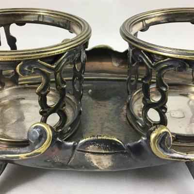 Louis XV Oil Cruet In Silver Plated Metal, France Around 1750