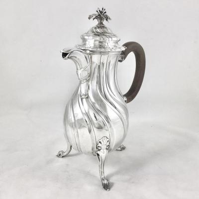 Louis XV Silver Coffee Maker, Mons 1771, De Behault