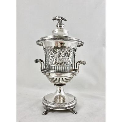 Confiturier Empire, Brussels 1814-1831, Sterling Silver, Sugar Vase.