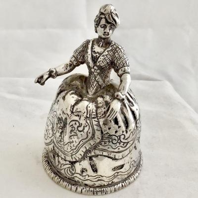 Table Bell, Sterling Silver, Hanau Around 1880-1900