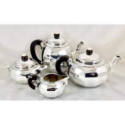 Art Deco Coffee Service, Sterling Silver, Brussels 1925-1935