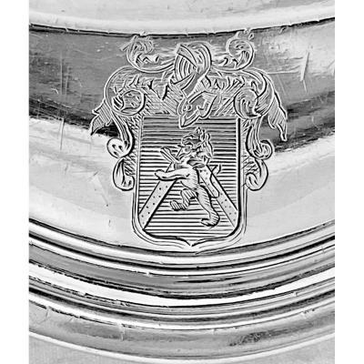 Louis XV Dish, Paris 1770, Jean-louis Morel, Sterling Silver.