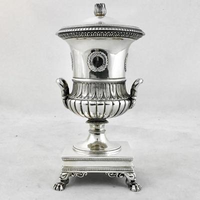Moutardier Empire, J.-b.-c. Odiot, Paris 1809-1819, Argent Massif Et Vermeil