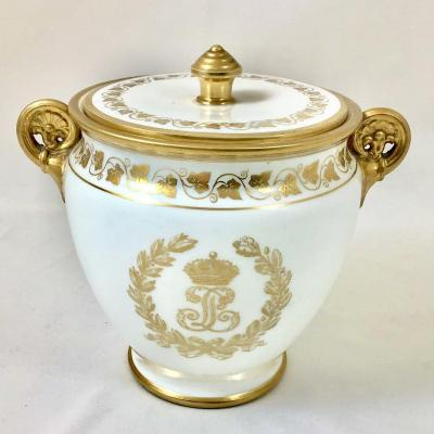 Sèvres Sugar Bowl, Service Des Princes, With The Monogram Of King Louis-philippe.