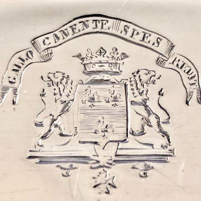 Marquis de Chaponay, Paris 1780, Plat Creux En Argent Massif
