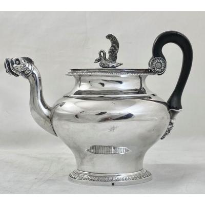 Empire Teapot, Paris 1809-1819, Sterling Silver