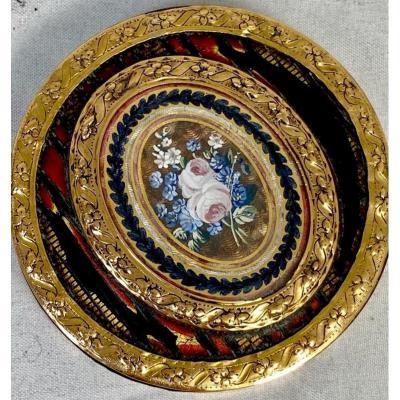 Boîte Louis XVI En Or écaille Et Laque, Vers 1780