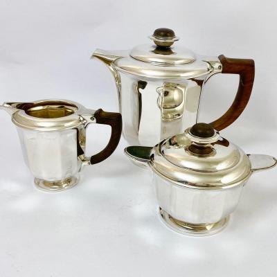 Wolfers Art Deco Coffee Service, Sterling Silver, Model ´jade ´