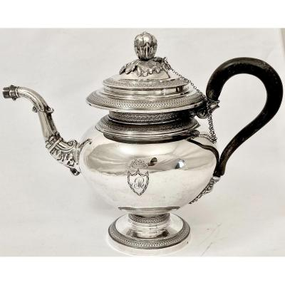 Early Nineteenth Century Silver Teapot, Mons 1833-1840