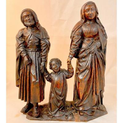 Holy Family, 16th Century, Southern Netherlands, Walnut, Altarpiece Element