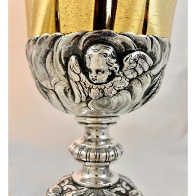Baroque Chalice, Sterling Silver, Ghent Circa 1840-60