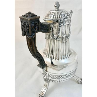 Louis XVI Period Coffee Pot, Ath 1779, Soutern Netherlands, Sterling Silver