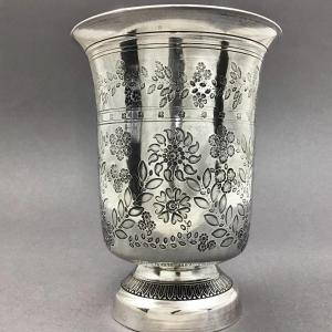 Grande Timbale Louis-philippe, Argent Massif, France Vers 1840