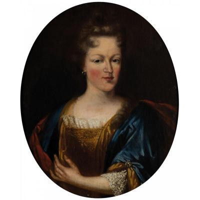 Peinture, Portrait De Femme, époque: 700