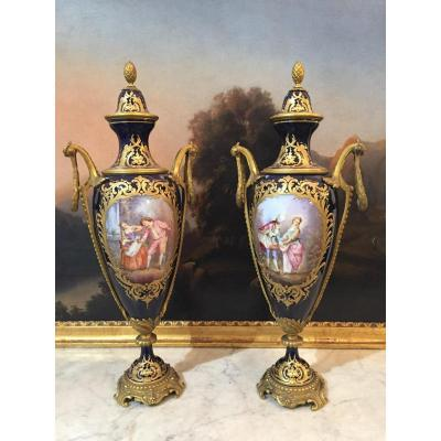 Pair Of Sèvres Porcelain Vases, Period: 19th Century