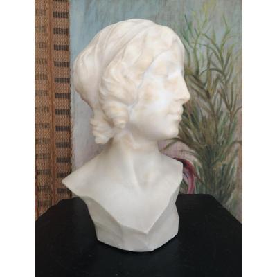 Sculpture Buste De Favilli Fausto