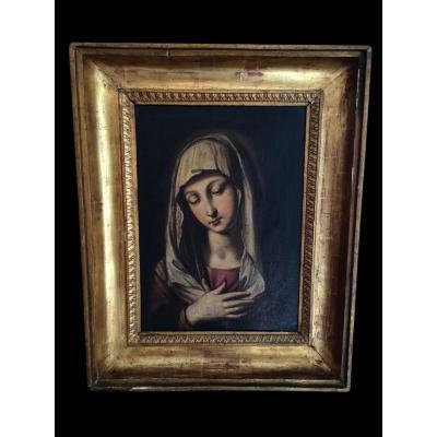 Vierge En Prière, époque: 18e Siècle