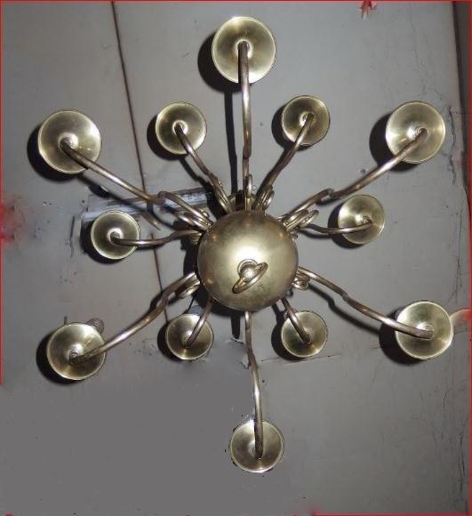 Lustre De Style Hollandais En Bronze Et Cuivre.-photo-2